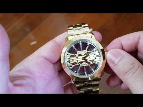 Relógio invicta 25270 corda manual procedimento de como dar corda e abrir a pulseira