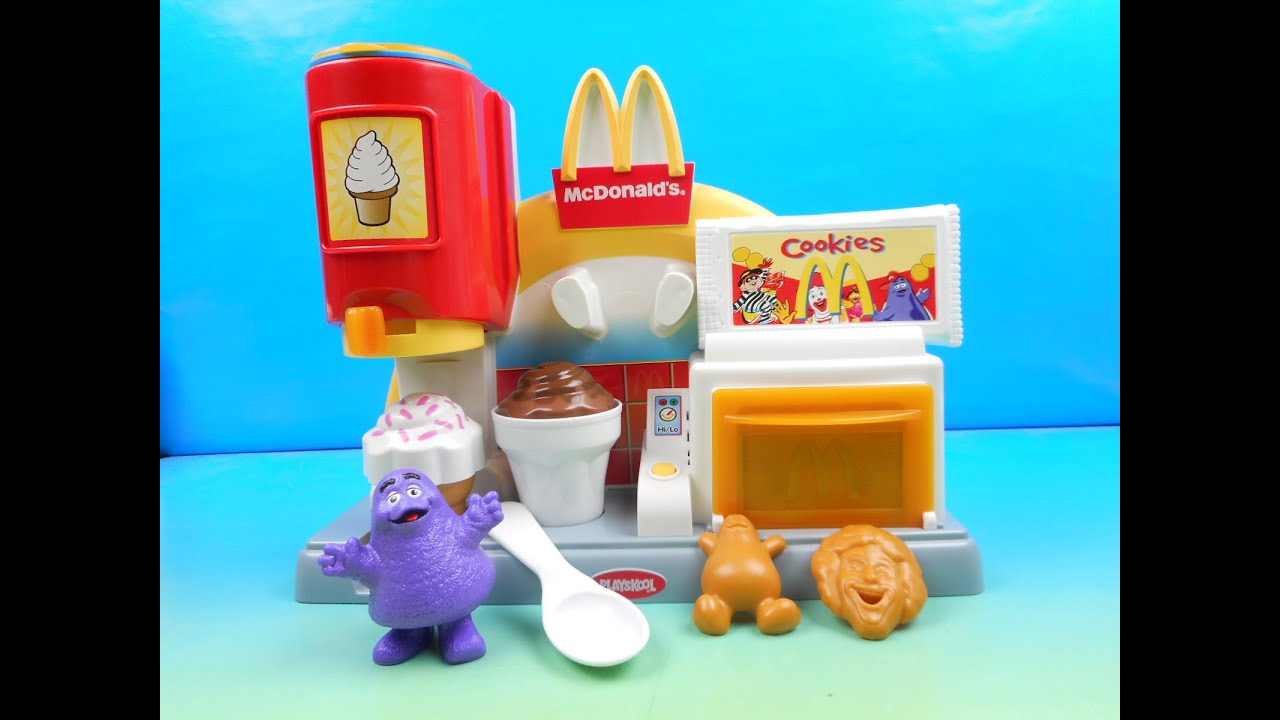 Playskool Toy Food : Mcdonalds mcsnack center electronic play set by