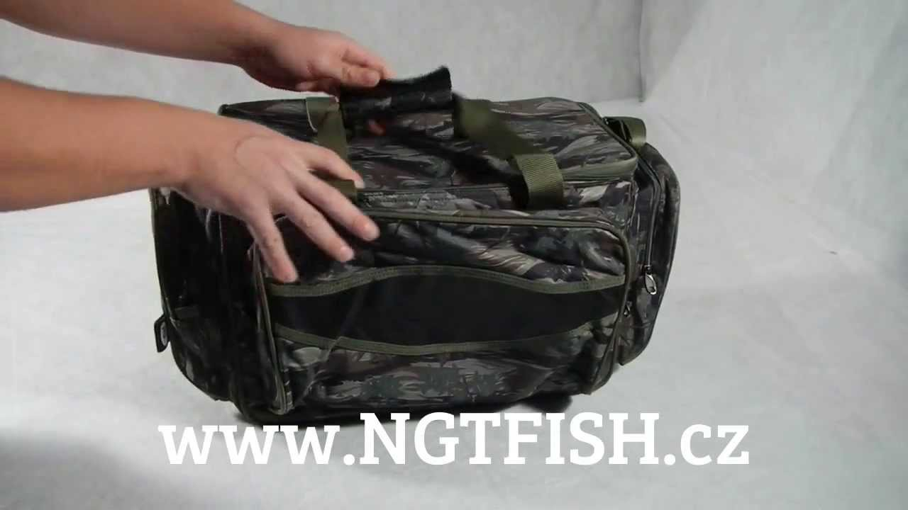NGT Taška Camouflage Insulated Carryall - YouTube 39be02f7926
