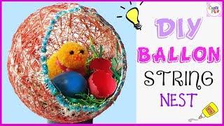 Tutorial - How to make Nest easily |  DIY Room Decor | Beautiful Balloon Craft Nest | Craft Play