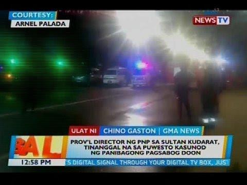 Prov'l director ng PNP sa Sultan Kudarat, tinanggal na sa puwesto