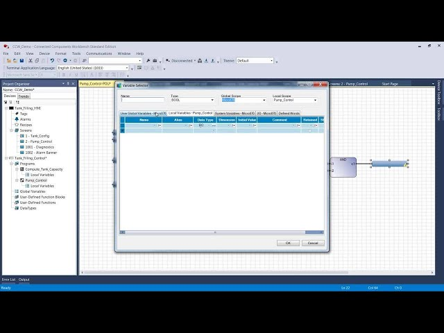 Basics 2 of 4 – Creating a PLC project using ST, FBD and LD and test with Micro800™ Simulator (V12)