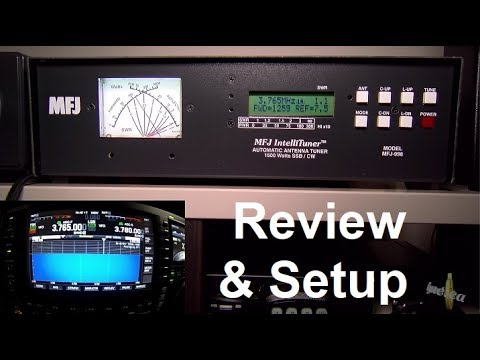 MFJ-998 automatic antenna tuner 1500 Watts - Review and Setup
