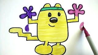 How To Draw | Workout Wubbzy Covered In Paint!!! From Wow Wow Wubbzy | Colours for kids