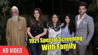 Zareen Khan's 1921 Special Screening With Family | Viralbollywood