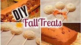 DIY Fall Treats: Berry Pie Pops, Pumpkin Bread and Salted Caramel Turtles! Thumbnail