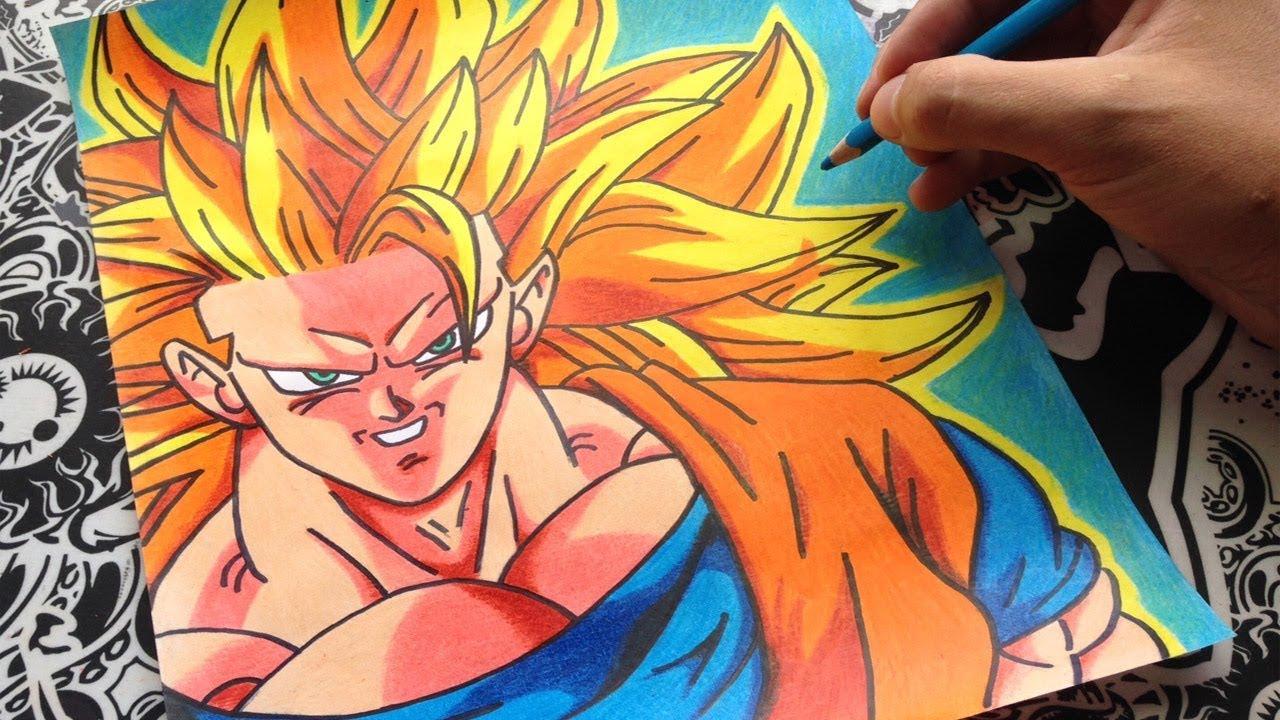 Como Dibujar A Goku Ssj3 How To Draw Goku Ssj3 Dragon Ball Super