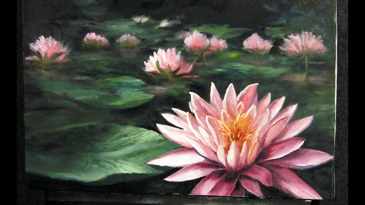 Water lily painting paint with kevin hill youtube dhlflorist Images
