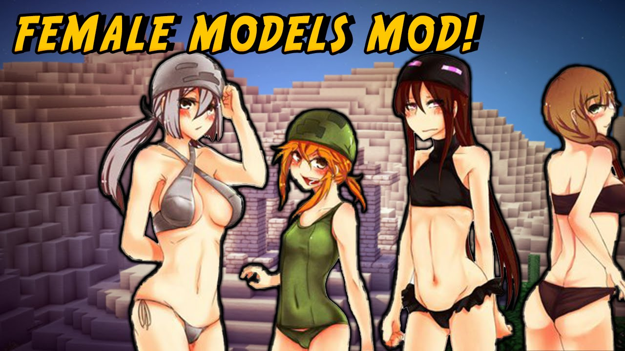 minecraft mods - sexy girls mod (cute female mobs!) - youtube