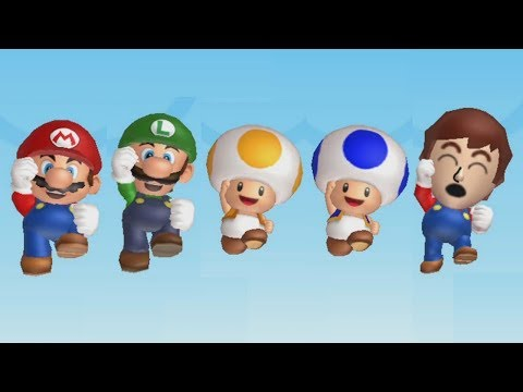 New Super Mario Bros. U - All Characters