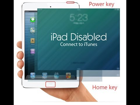 Ipad disabled connect to itune