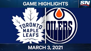 NHL Game Highlights | Maple Leafs vs. Oilers - March 03, 2021