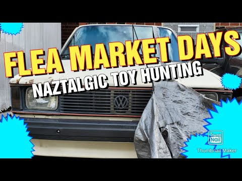 FLEA MARKET Hunting Vintage Toys & Video games (Naztalgic Fleas #80)
