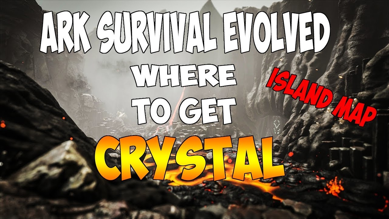 Where To Find CRYSTAL On The ISLAND MAP In Ark Survival Evolved