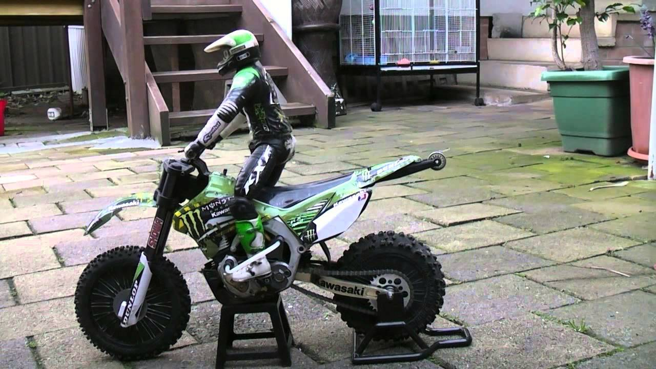 Rc Dirt Bike Standing Rider Test Youtube