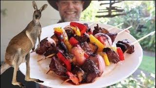 Cooking a Kangaroo Kebab - Greg's Kitchen