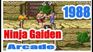 1988 Ninja Gaiden Arcade Old School game Playthrough retro game