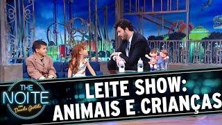 The Noite (14/11/16) - Leite Show: animais e crianças