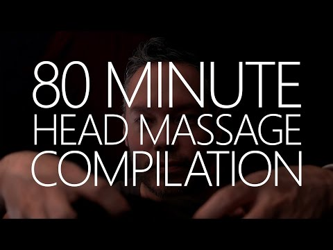 ASMR ✦ 80 MINUTE ✦ Head Massage Compilation for relaxation & sleep! (4K)