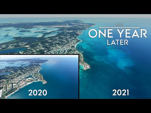Microsoft Flight Simulator - One Year Later - Water Masks - Comparing to Release and Trailers