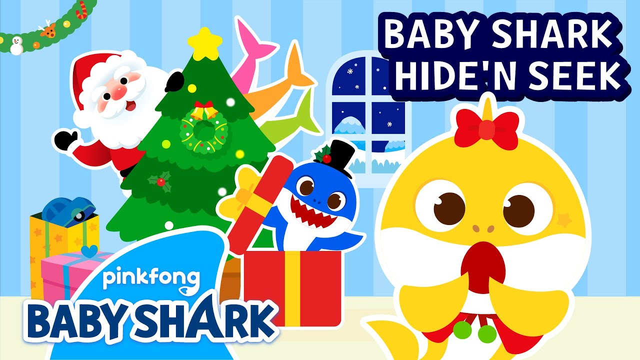 Christmas Hide and Seek with Shark Family | Christmas Songs | Holiday Special | Baby Shark Official