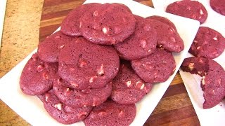 Red Velvet & White Chocolate Chip Cookies   Ultimate Cookie Collaboration