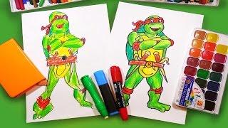 Как рисовать Черепашку Ниндзя Рафаэля | How to draw ninja turtles Raphael | Урок рисования для детей(Мальчики хотят знать: как рисовать Черепашку Ниндзя! Мы проведем урок рисования (раскраска) для детей. Мы..., 2015-11-25T18:18:04.000Z)