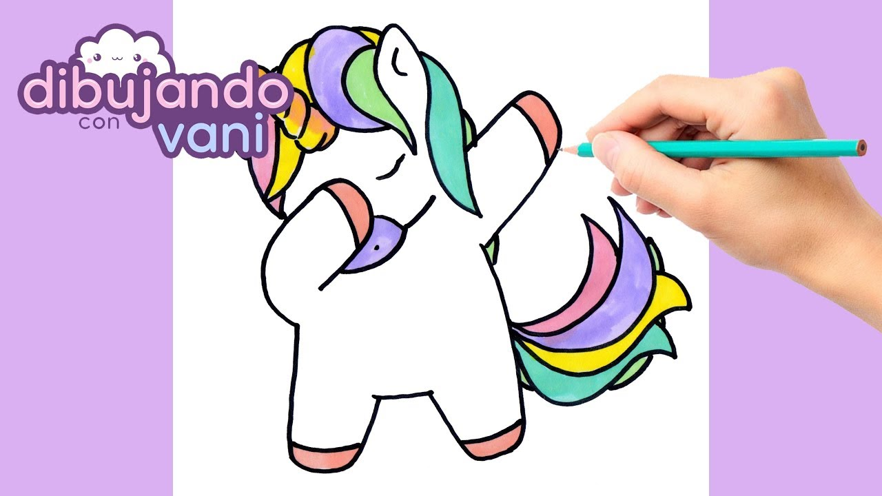How To Draw Unicorn Dab Kawaii