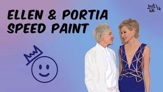 Ellen DeGeneres & Portia de Rossi Speed Paint