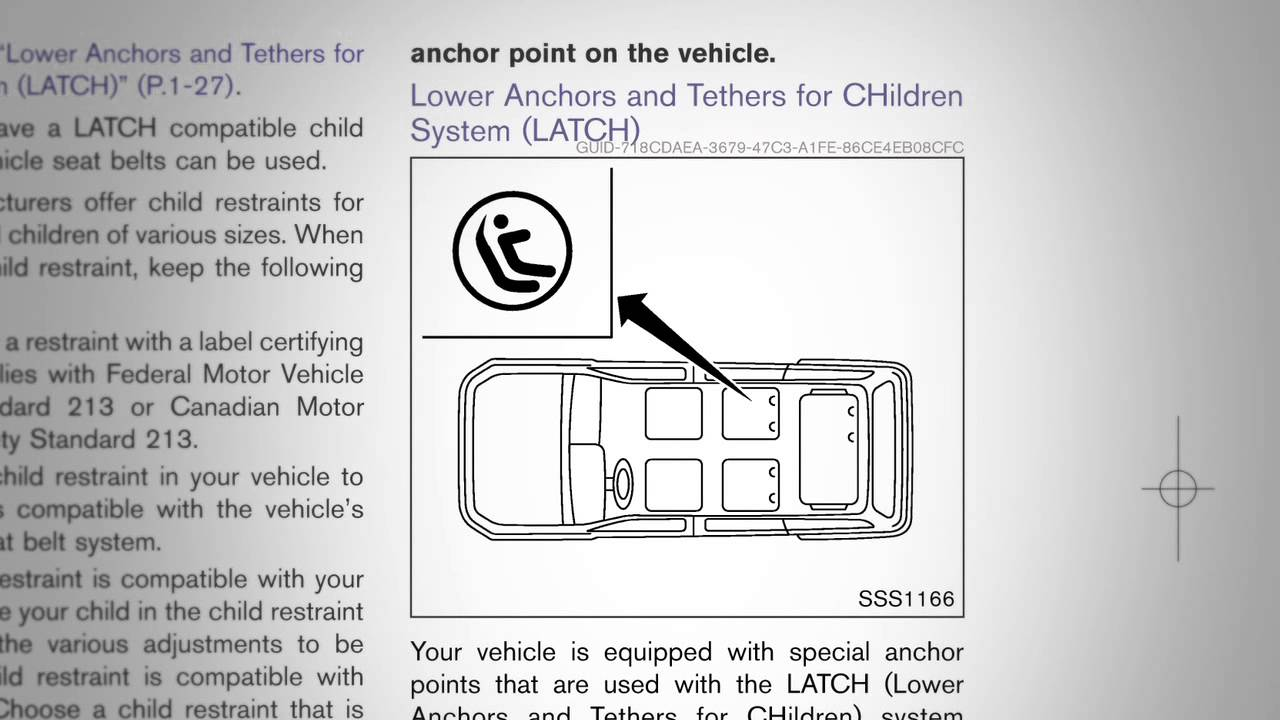 Nissan Altima: LATCH (Lower Anchors and Tethers forCHildren) System