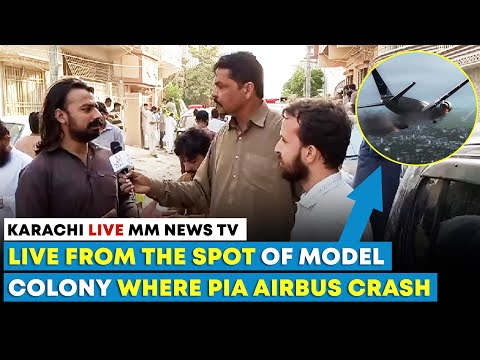 Live From The Spot Where PIA Plane Crash