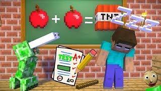 Monster School : Herobrine Vs Baldi's and Drawing Challenge - Minecraft Animation