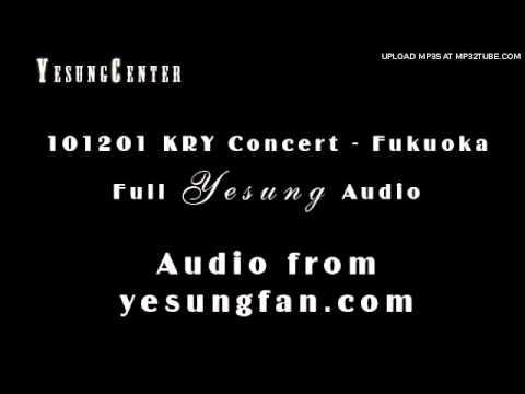 [clear audio] [Fukuoka KRY Concert] 101201 Dreaming Hero - Super Junior KRY