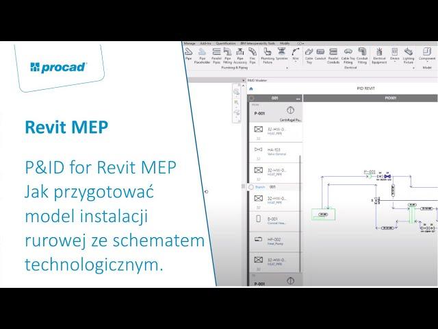 P&ID for Revit MEP   Jak przygotować model instalacji rurowej ze schematem technologicznym
