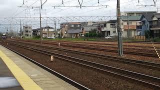2018/10/6愛知DCラッピング臨時未来クリエイター信長号 313系B201編成清洲駅通過