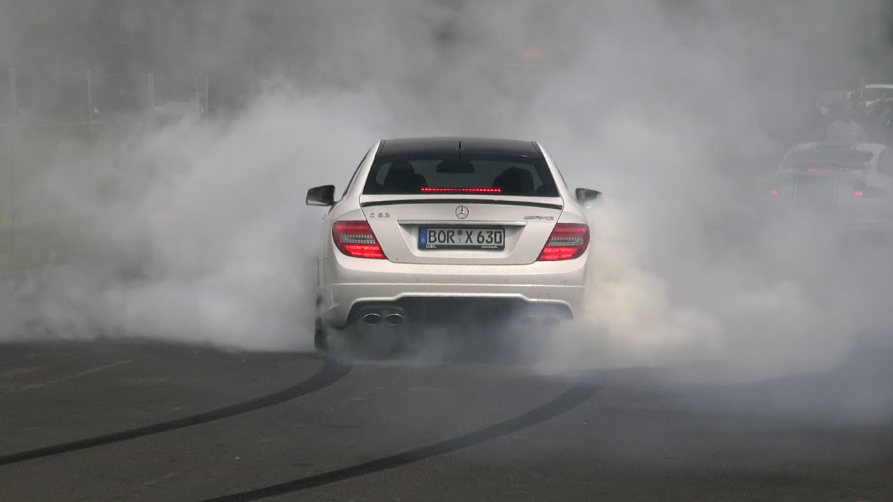 Super Car Event Wallpaper Massive Burnout 600hp Wimmer Performance Mercedes C63 Amg