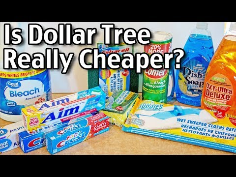 Is Dollar Tree REALLY cheaper? Dollar Tree Vs  Walmart!