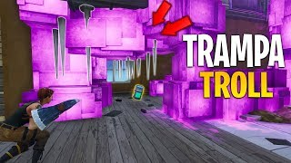 TROLLEO PEOPLE WITH *INVISIBLE TRAP* IN FORTNITE
