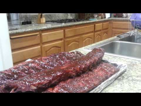 Smoked baby back ribs on Char Griller pellet grill