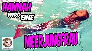 MEERJUNGFRAU HANNAH IM POOL 🧜🏻♀️ Eine Nixe im Schwimmbad 🧜🏻♀️ Schwimmen und Tauchen als Mermaid