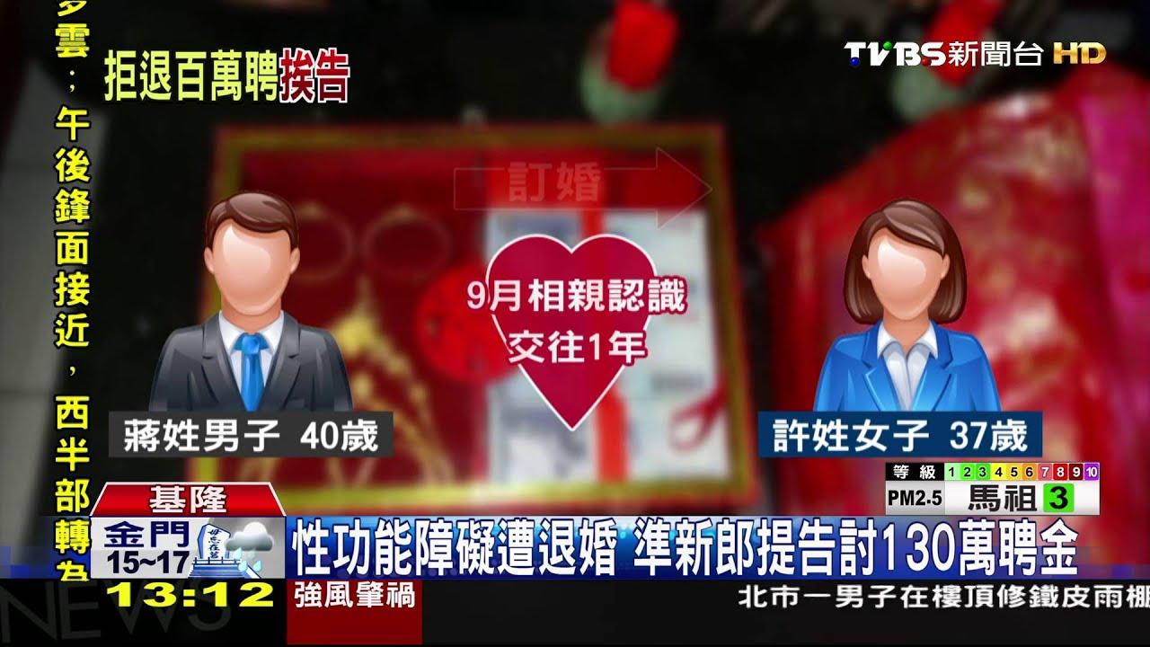Download 【TVBS】性功能障礙遭退婚 準新郎提告討聘金
