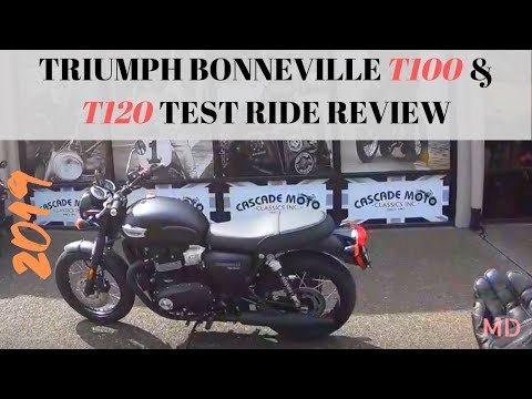 Triumph Bonneville T100 and T120 Test Ride Review #triumph #bonneville