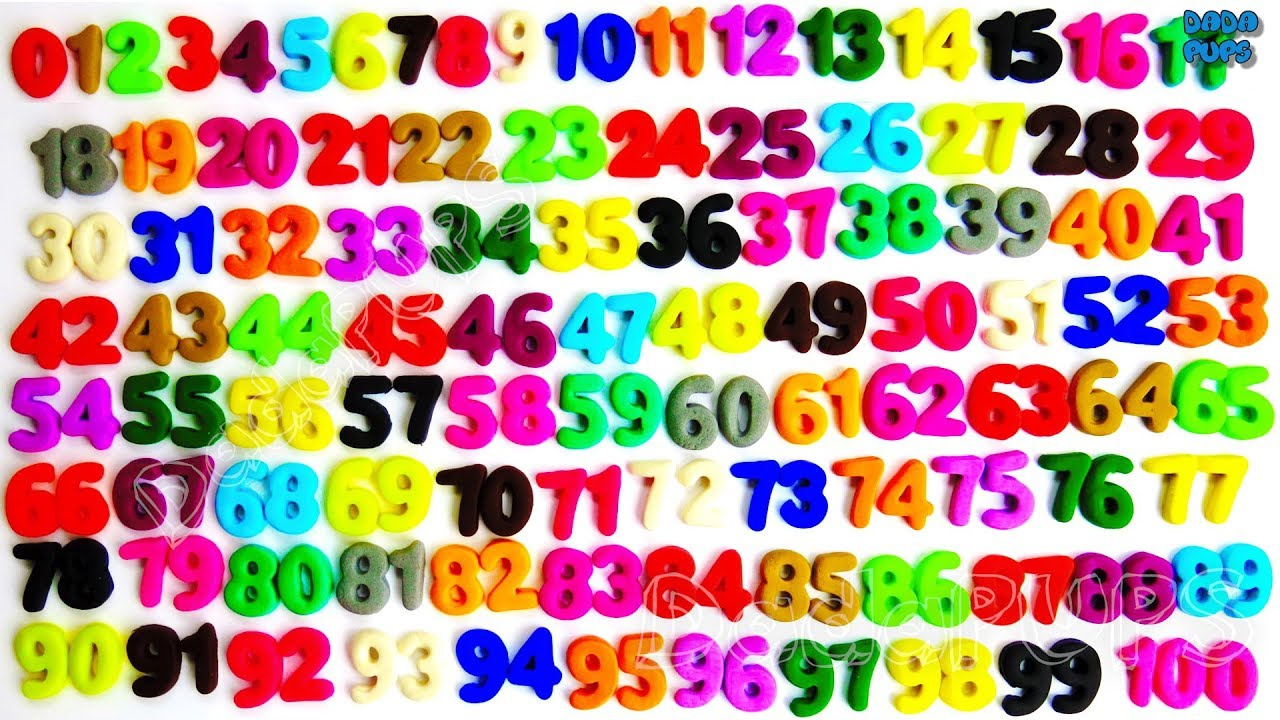 Image result for numbers 1-100 clipart