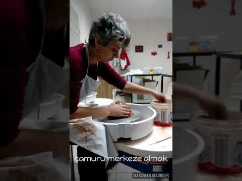 How to center clay on the wheel.