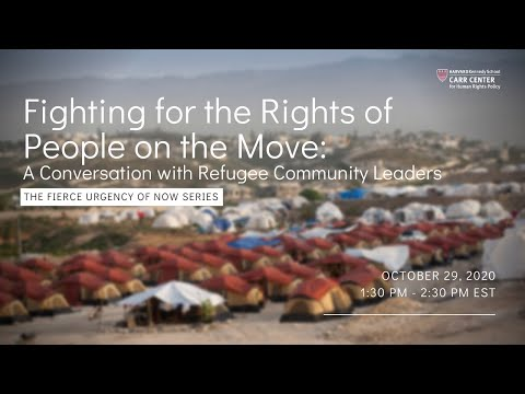 Advocating for the Rights of People on the Move: A conversation with Refugee Community Leaders on YouTube