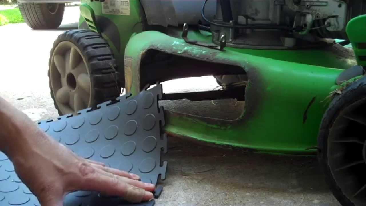 DIY Mower Discharge Chute Repair - YouTube