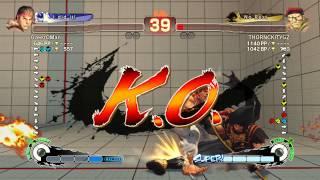 Ultra Street Fighter IV battle: Ryu vs Rolento