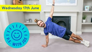 PE With Joe | Wednesday 17th June