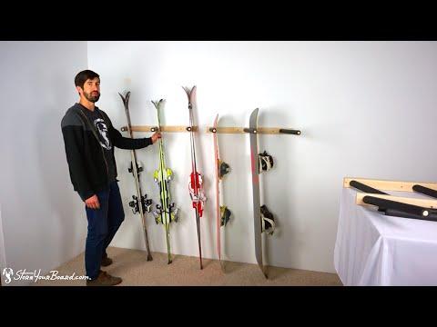 Vertical Ski and Snowboard Rack   StoreYourBoard