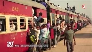 JT 20H France 2 - Les conditions de transports en train en Inde